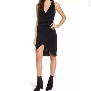 Leith Melange Faux Wrap Dress size M